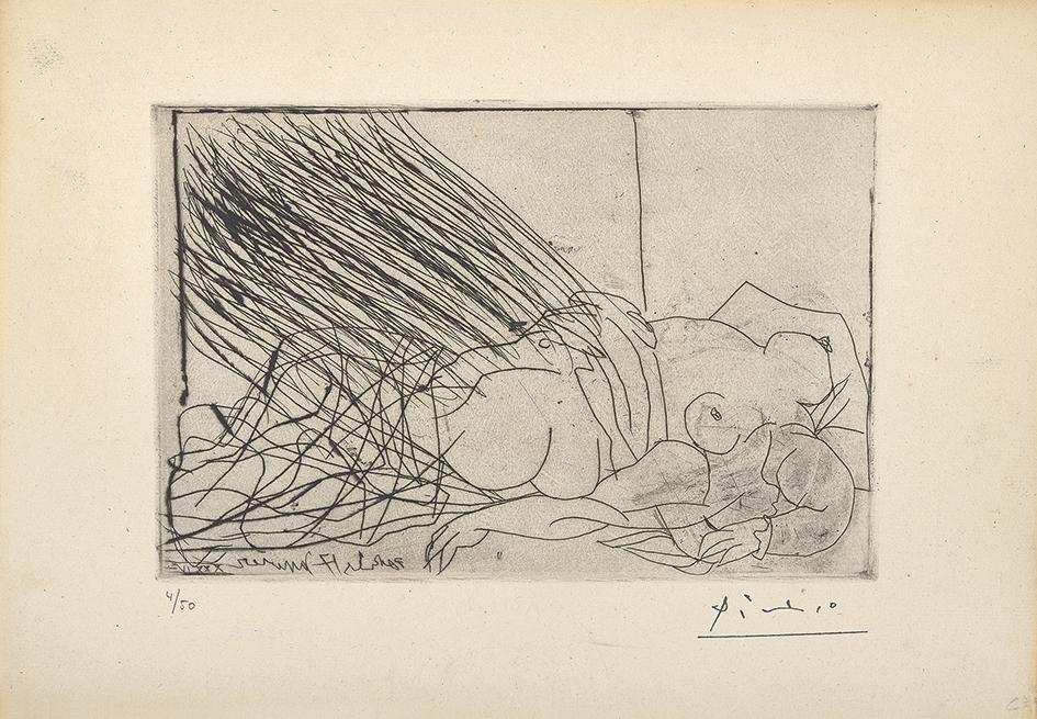 Picasso Pablo, Femme nue endormie ou morte