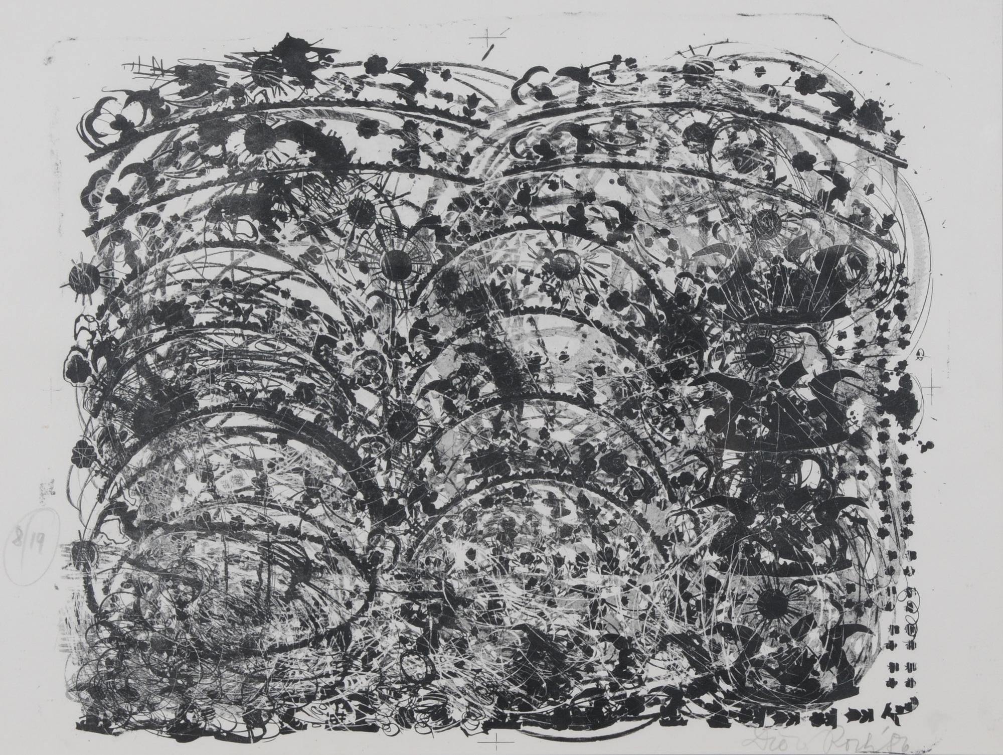 Roth Dieter, 2 sheets: Porzellanstein II, 1986; Chineo-Japanischer Porzellanstein, 1986