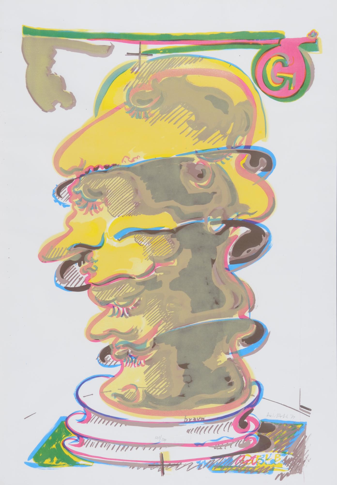 Roth Dieter, 2 sheets: 5 Herren, 1973; Gemischter Kopfsalat, 1977