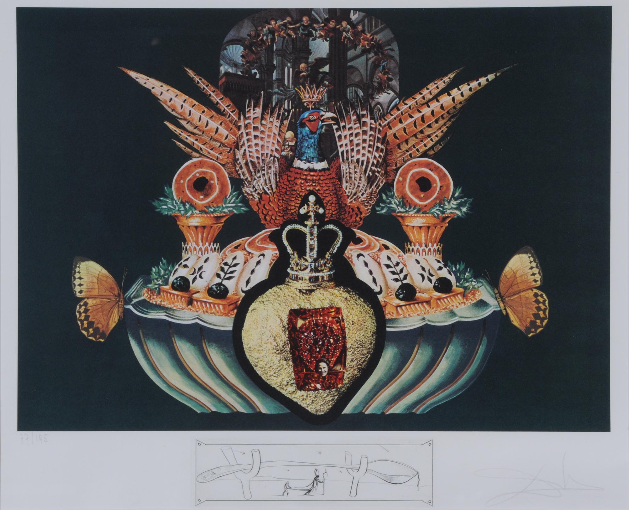 """Dalí Salvador, Les chairs monarchiques, from """"Les dîners de Gala"""""""