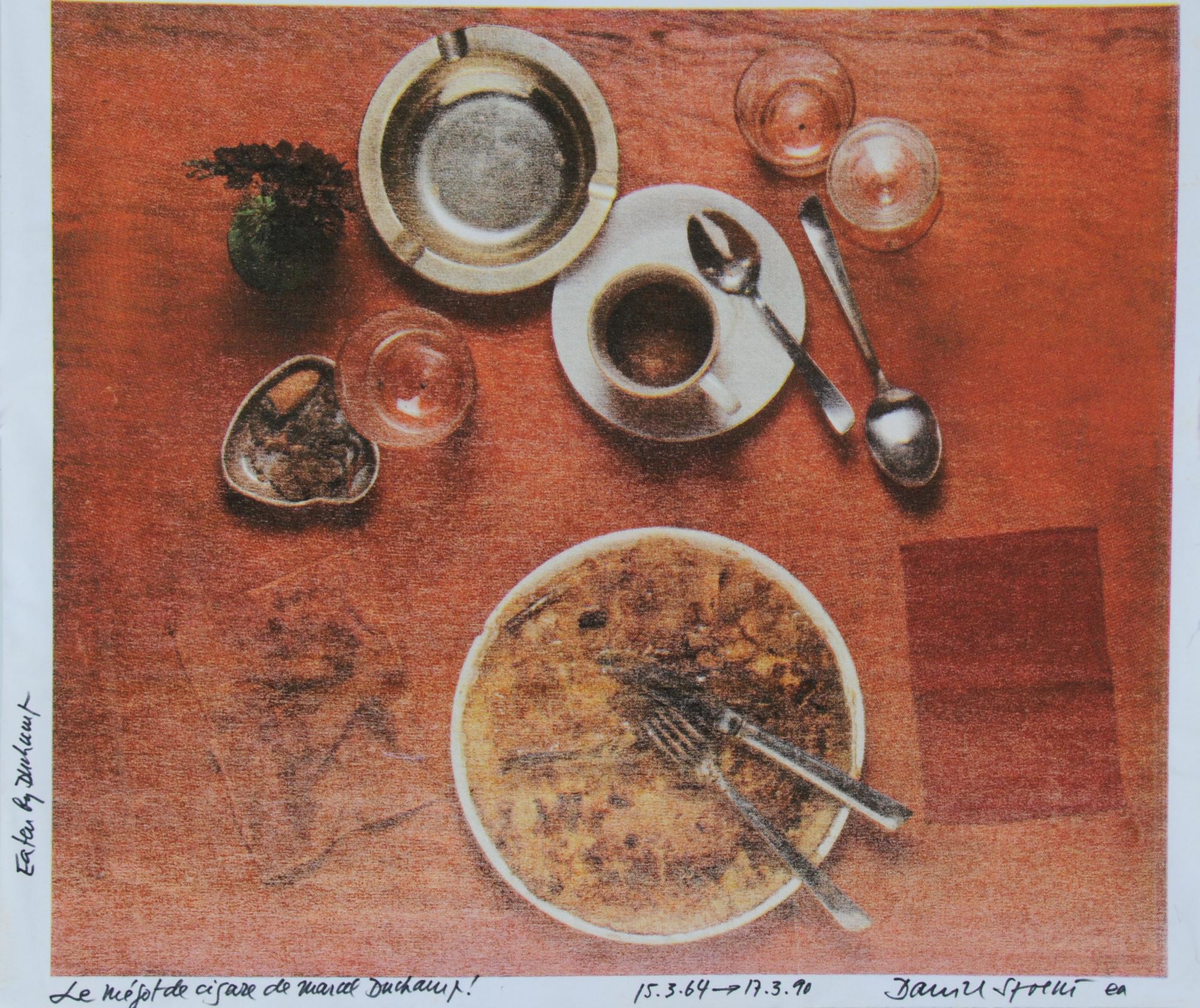 Spoerri Daniel, Eaten by Marcel Duchamp (Le mégot de cigare de Marcel Duchamp)