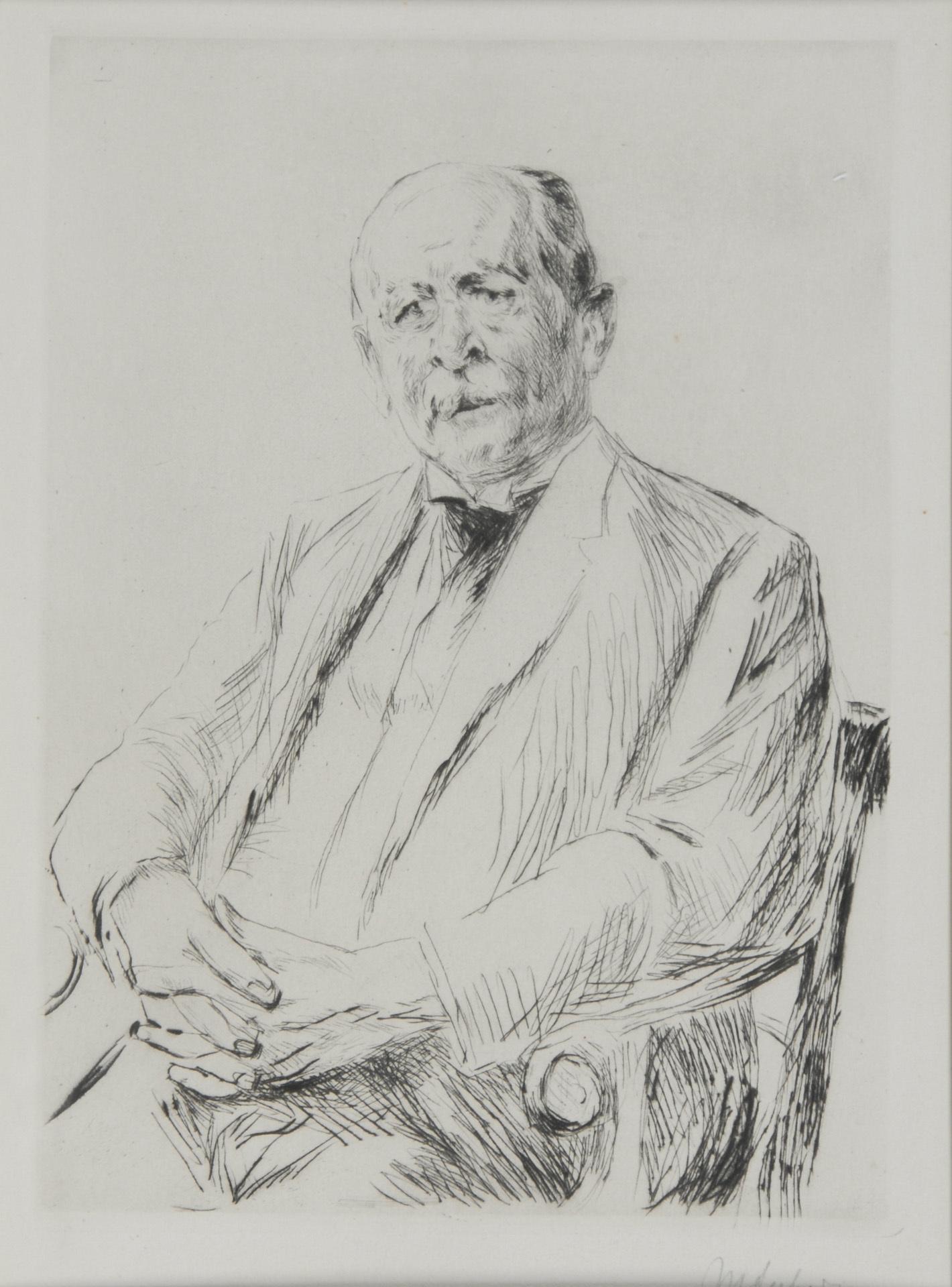 Liebermann Max, Bildnis Gerstenberg (Portrait Gerstenberg)