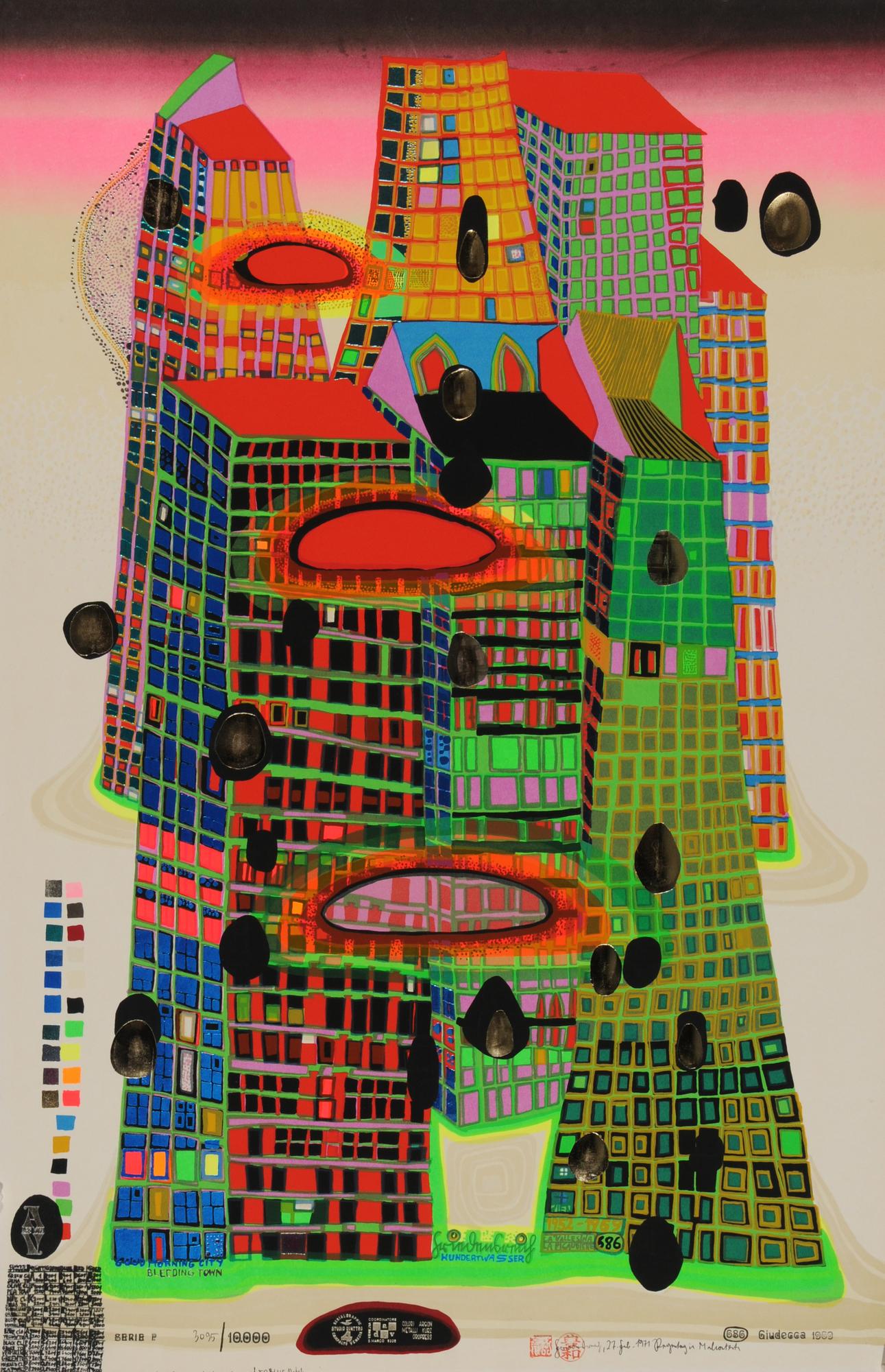 Hundertwasser Friedensreich, Good Morning City - Bleeding Town