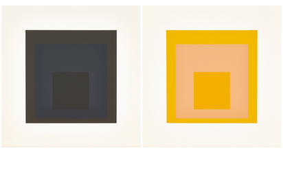 "Albers Josef, 2 sheets from ""Soft Edge - Hard Edge"""
