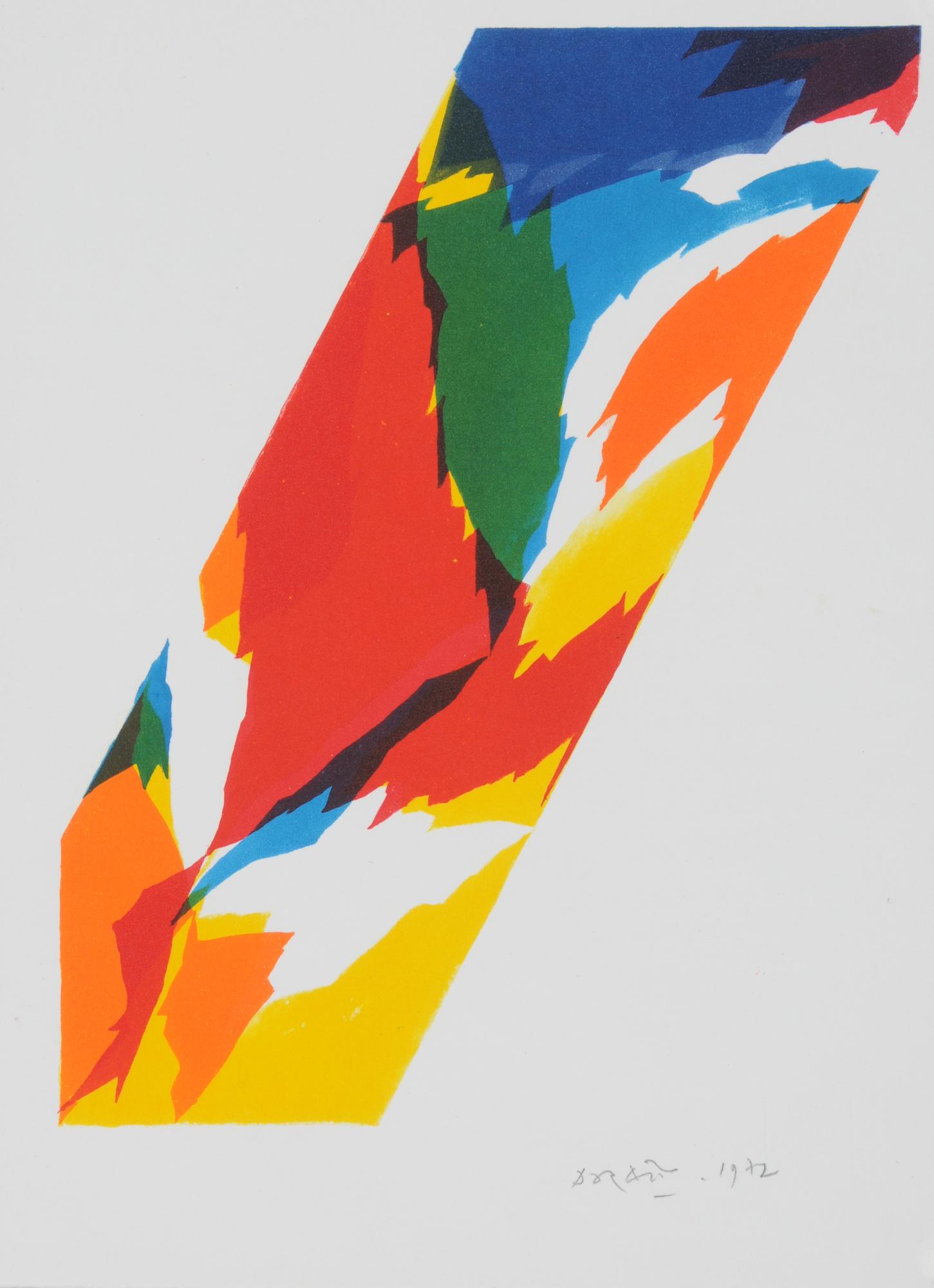 Dorazio Piero, 5 sheets: Untitled, 1969 (2); Untitled