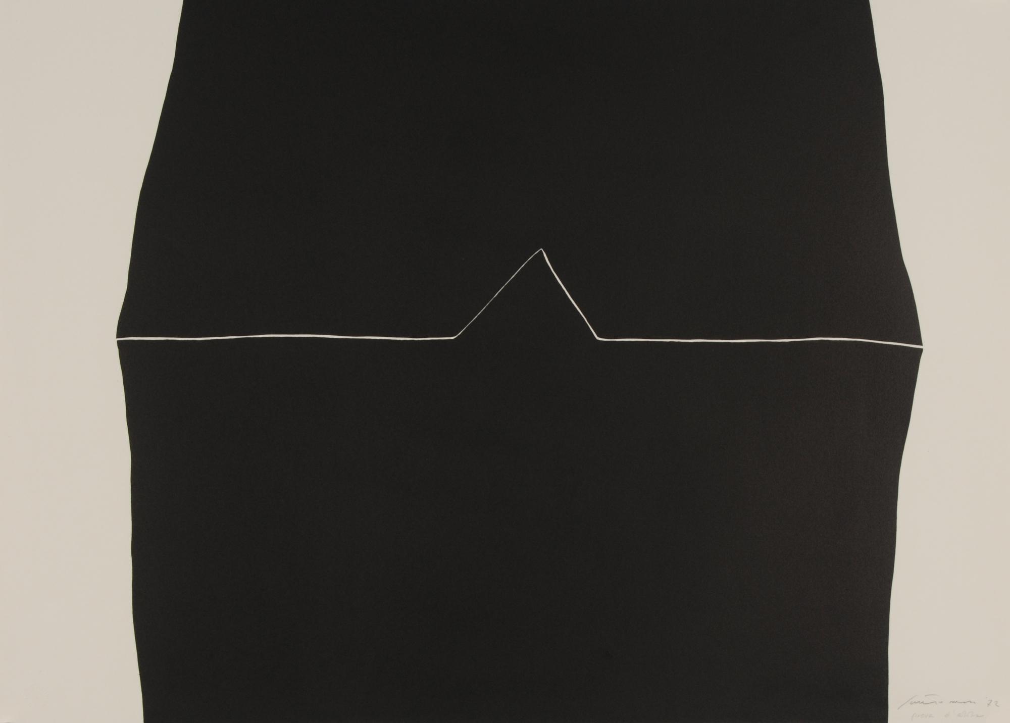 Santomaso Giuseppe, 7 sheets: Rosso agli angolti, 1971; Dall alto al Basso, 1972; Senza titolo, 1966; Senza titolo, 1970 (2); Senza titolo, 1972; Senza titolo