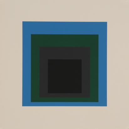 "Albers Josef, 2 sheets from ""Soft Edge - Hard Edge"""