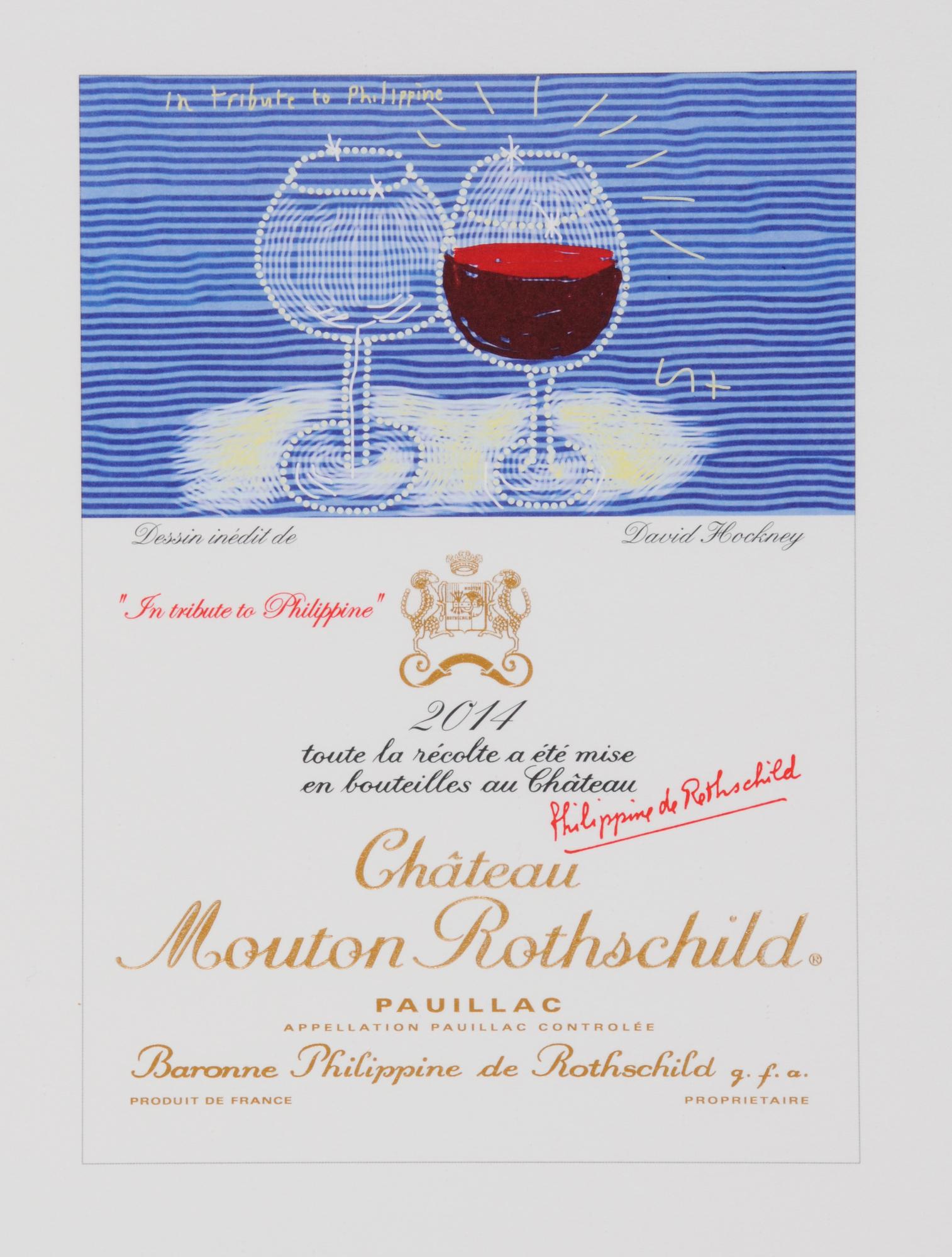 Hockney David, Château Mouton Rothschild