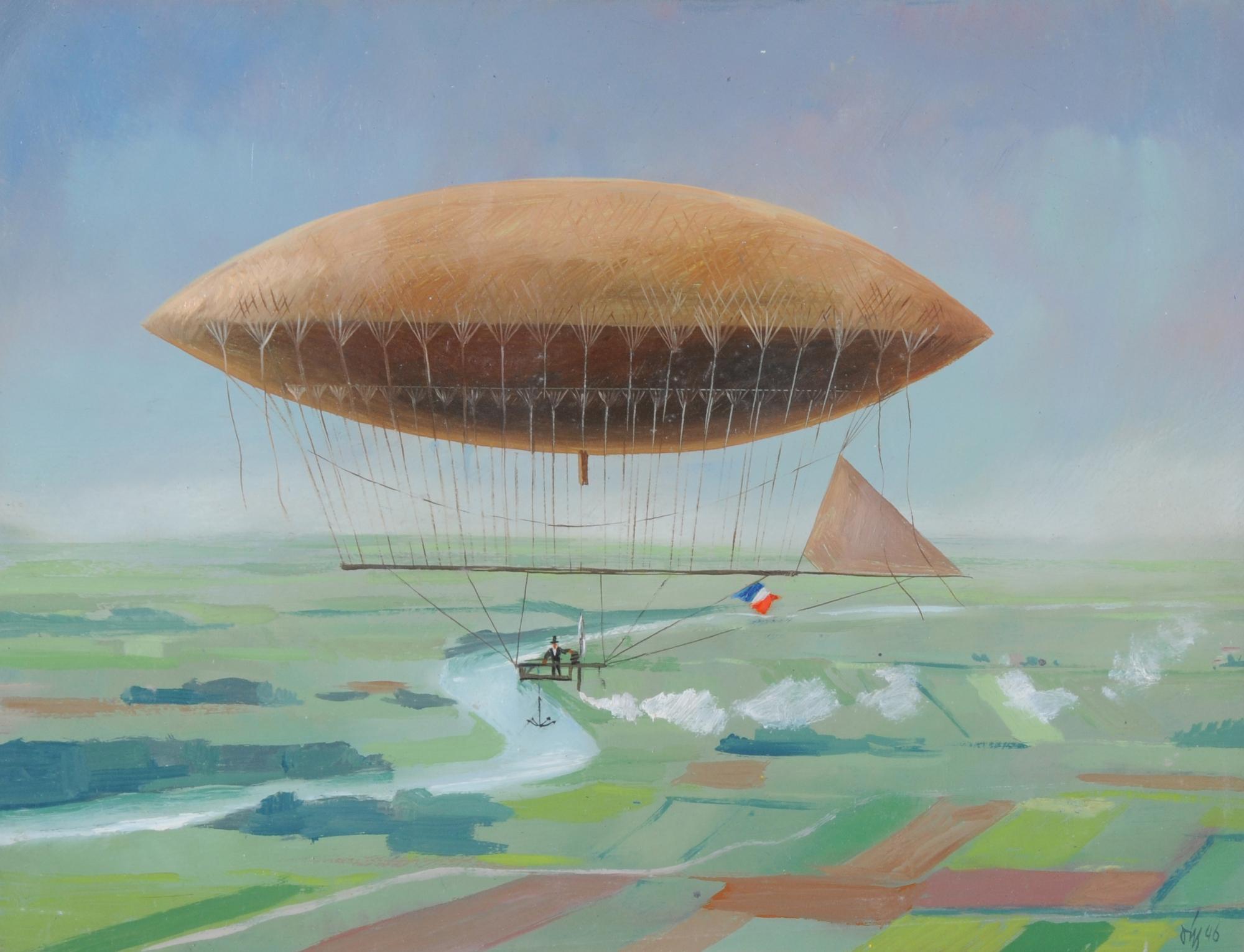 Diggelmann Alex Walter, Das Dampf-Luftschiff von Henri Giffard (1852)