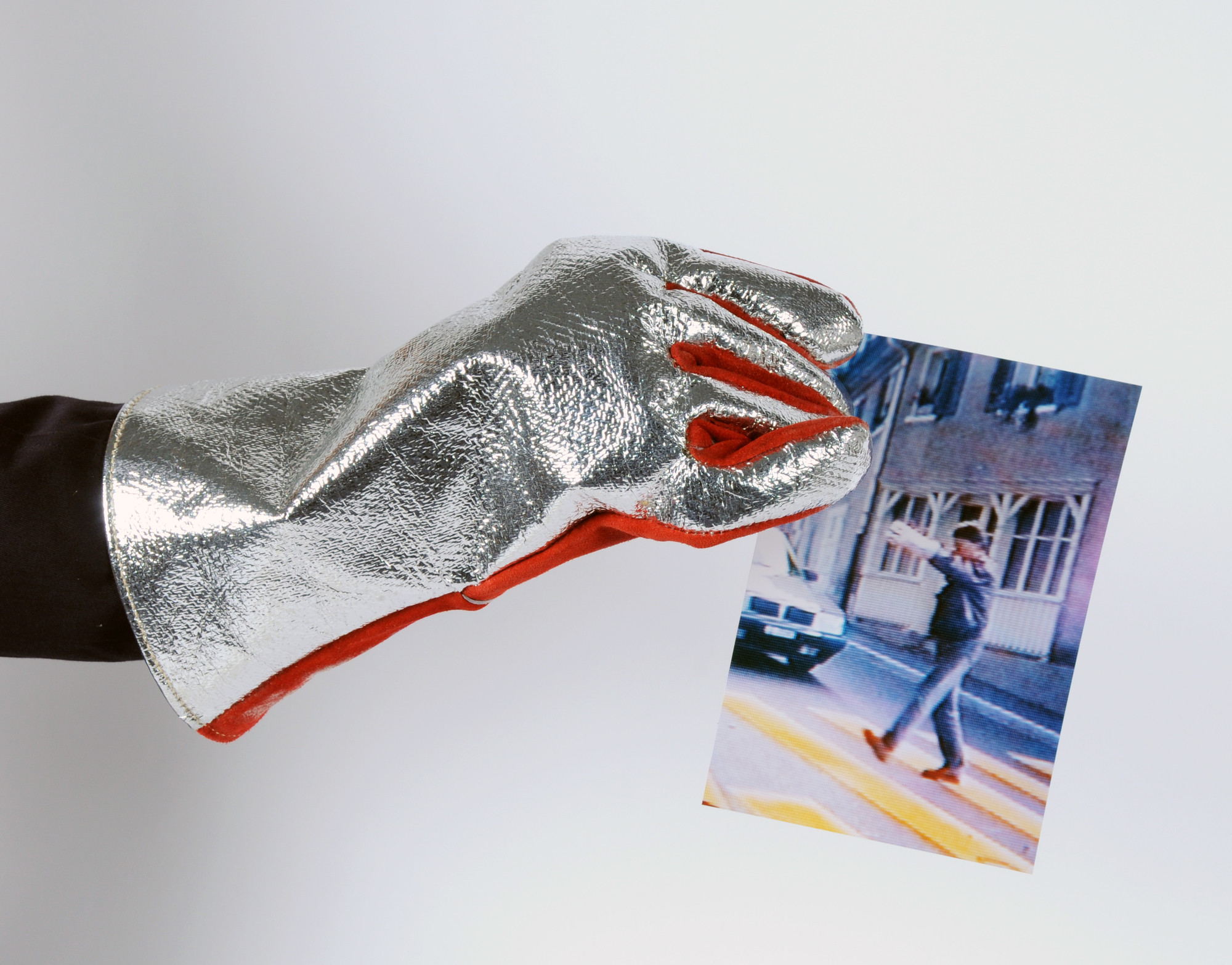 Signer Roman, Firefighter Glove with Photograph