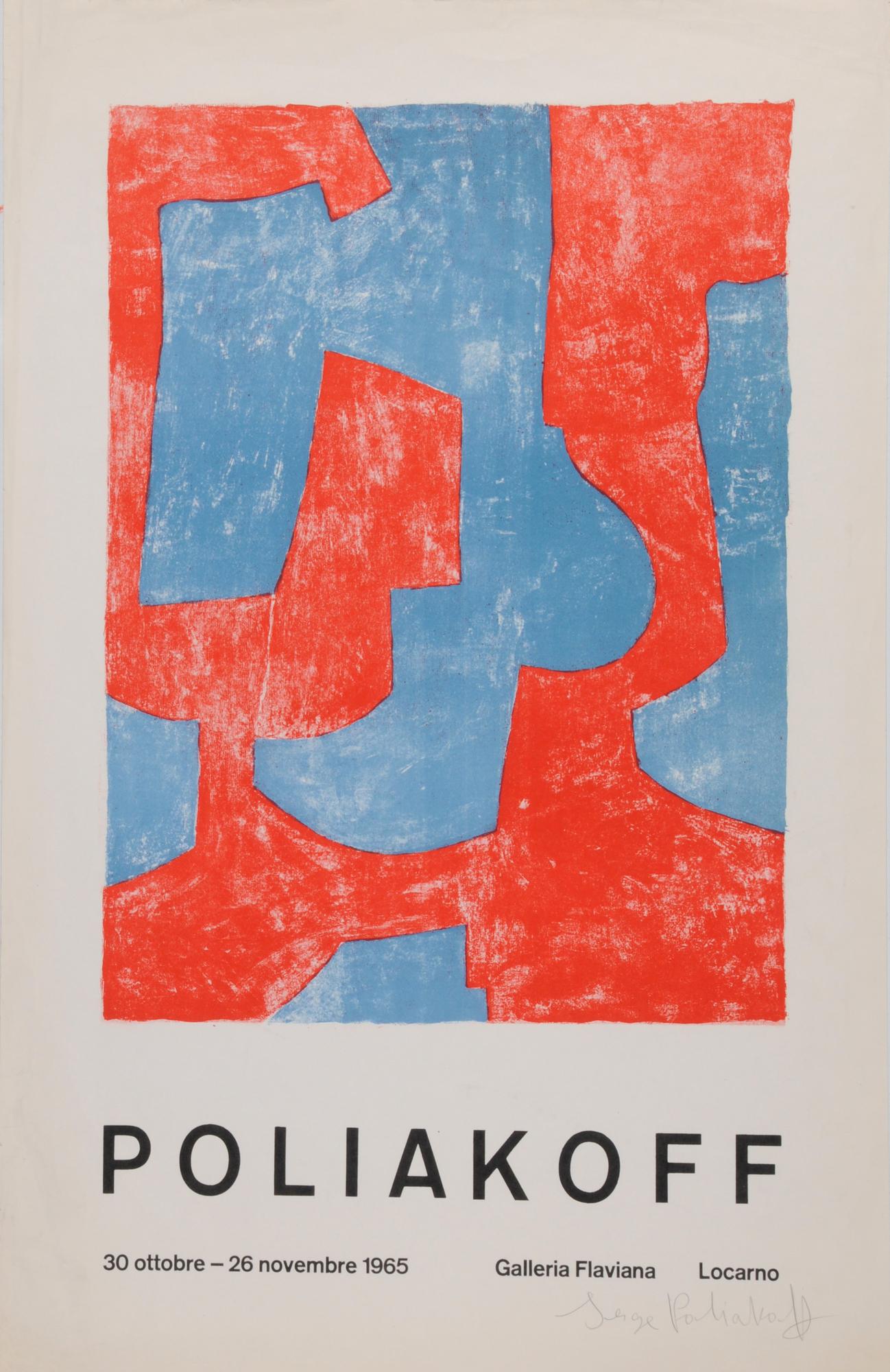 Poliakoff Serge, Exhibition poster. Poliakoff, 30 ottobre-26 novembre 1965, Galleria Flaviana, Locarno