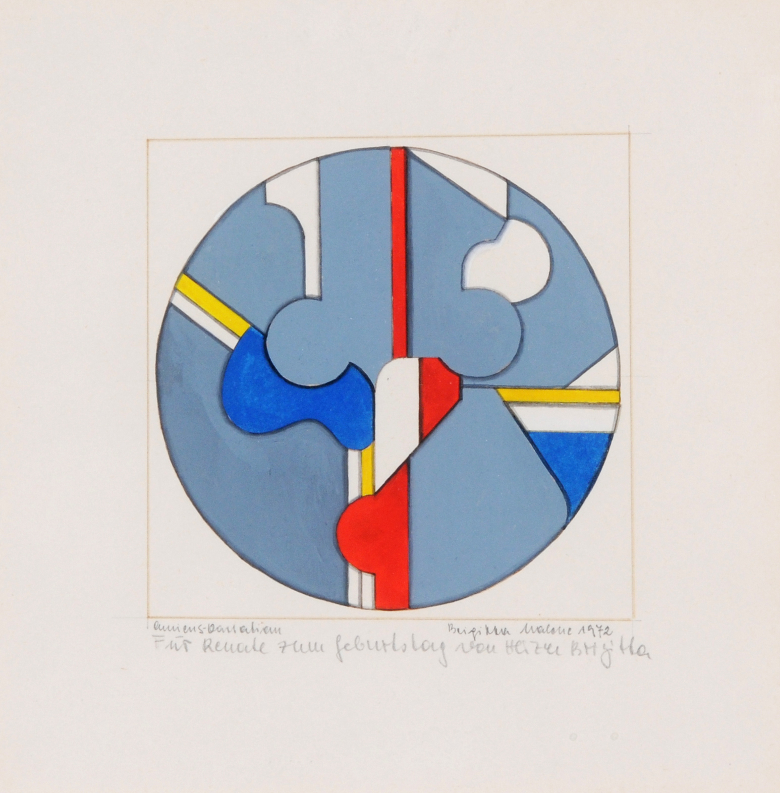 Malche Brigitta, 2 paintings: Untitled, 1972; Gemäldebild V., 1973