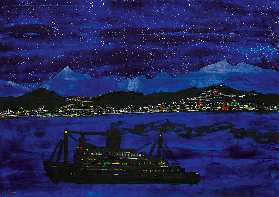 Viscontini François, Nachthafen (Harbour at Night)