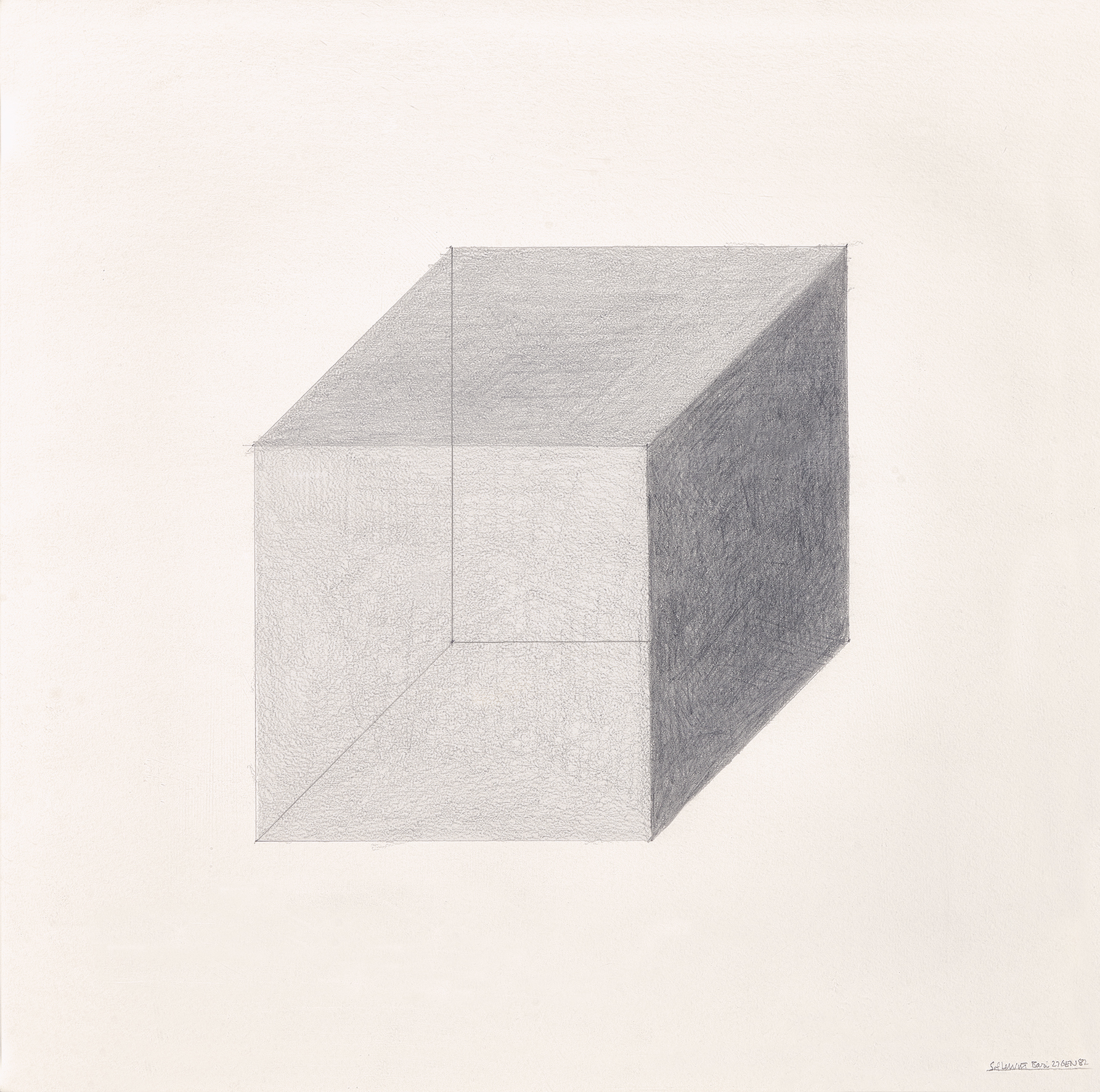 LeWitt Sol, Cube on Perspective