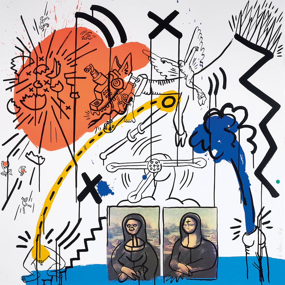 """Haring Keith, Untitled No. 2, from """"Apocalypse"""""""