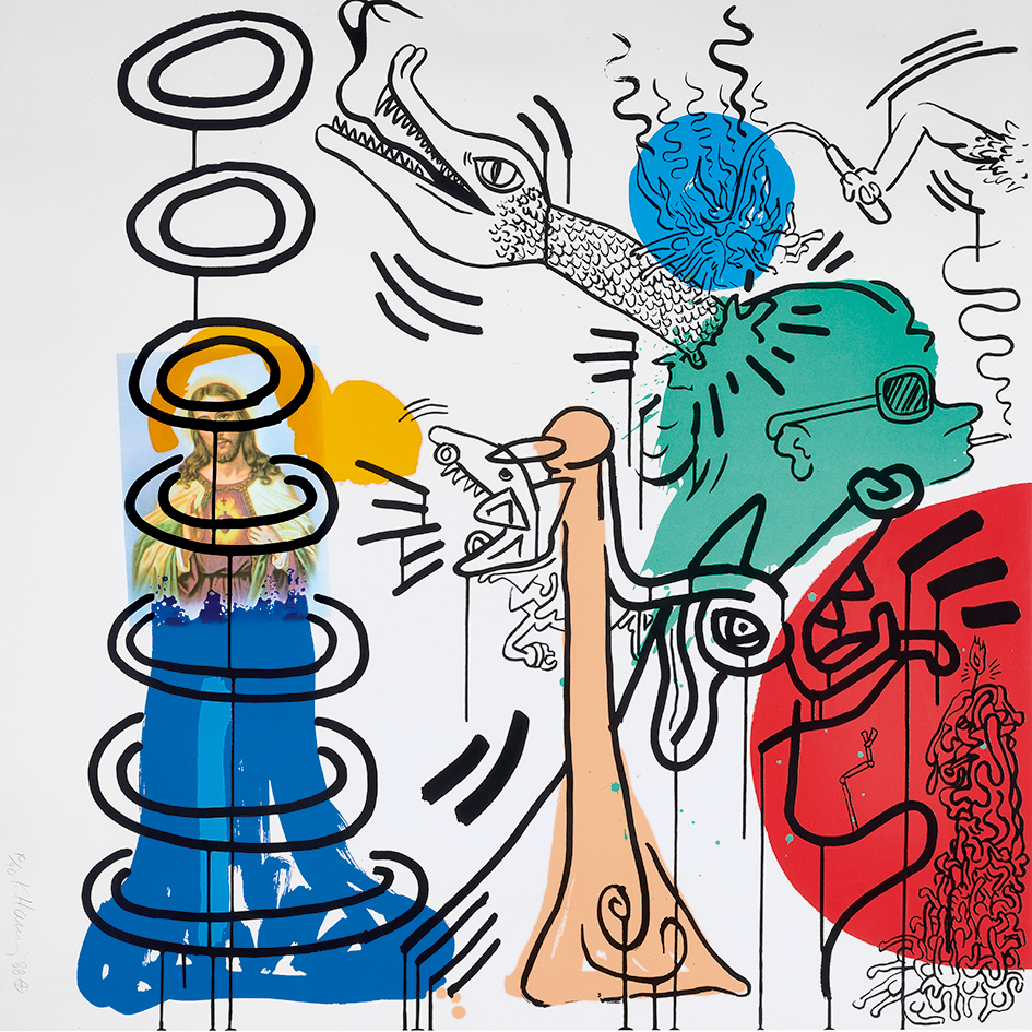 """Haring Keith, Untitled No. 5, from """"Apocalypse"""""""