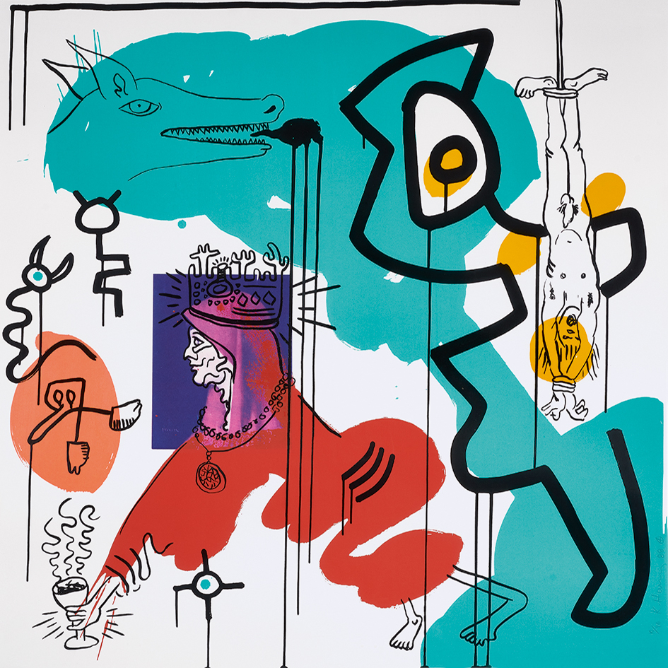 "Keith Haring, Untitled No. 9, aus ""Apocalypse"""