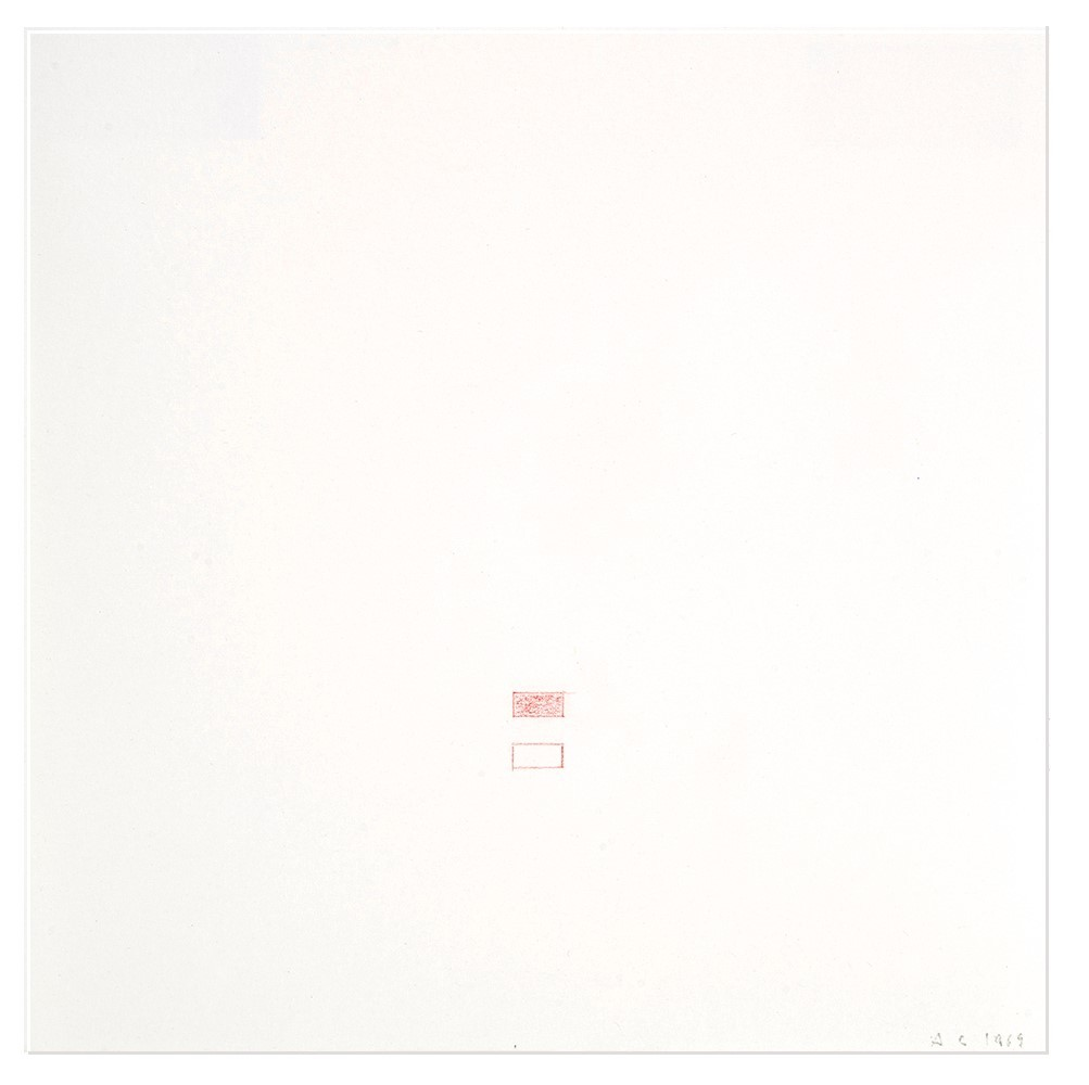 Calderara Antonio, 2 drawings: Senza titolo, 1969; Senza titolo