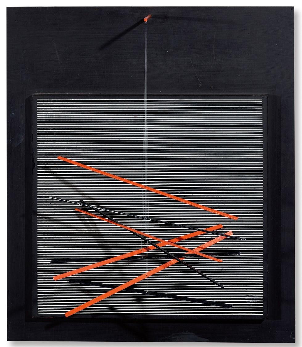 Soto Jesús Rafael, Petite vibration brique et noire