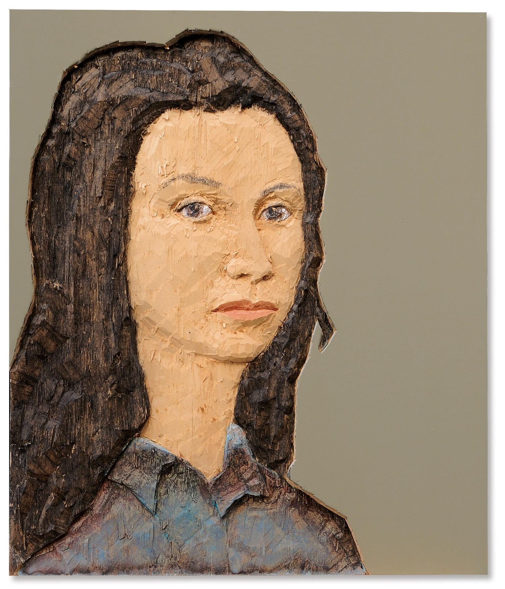 Stephan Balkenhol, Kopfrelief Frau  (Head Relief Woman)