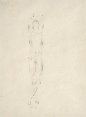 Knabe mit erhobenen Armen (Boy with Raised Arms)