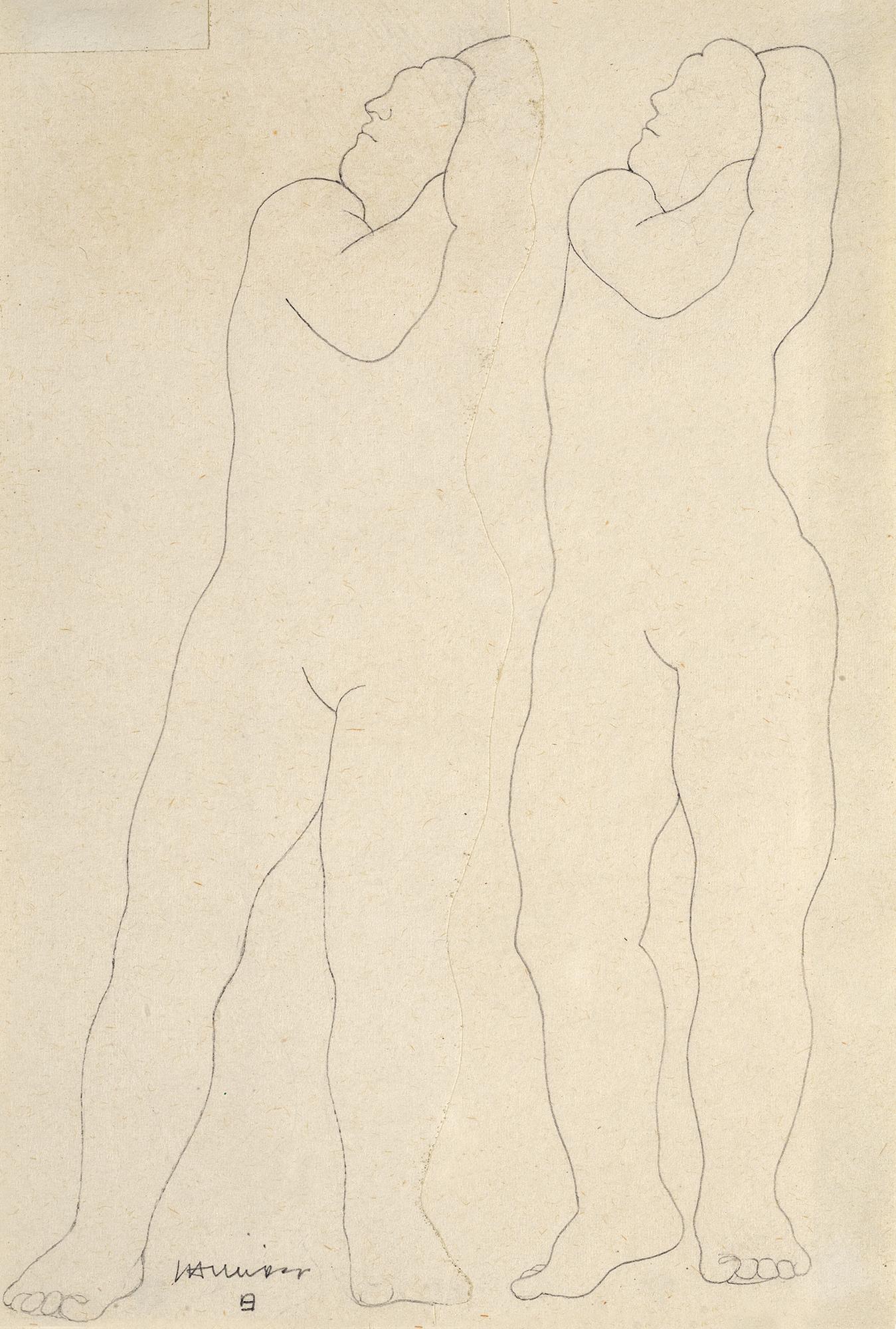 Chillida Eduardo, Due nudi in piedi
