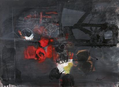 Composition rouge et noire