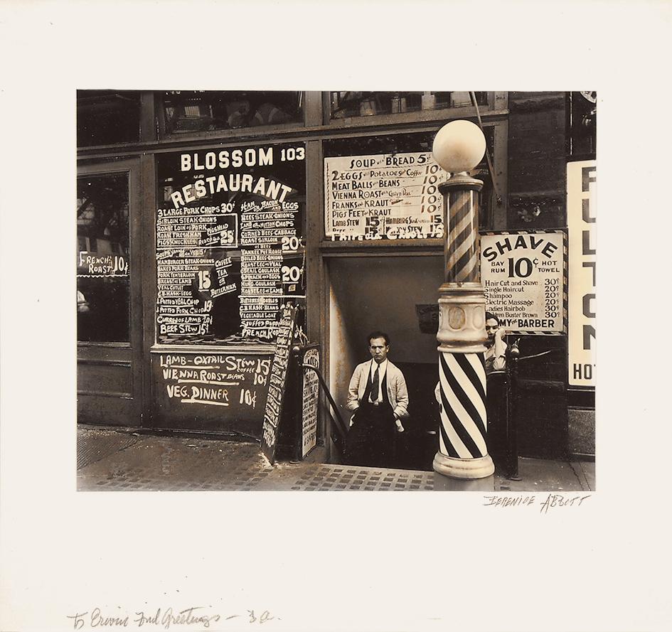 Abbott Berenice, Blossom Restaurant, 103 Bowery, Manhattan