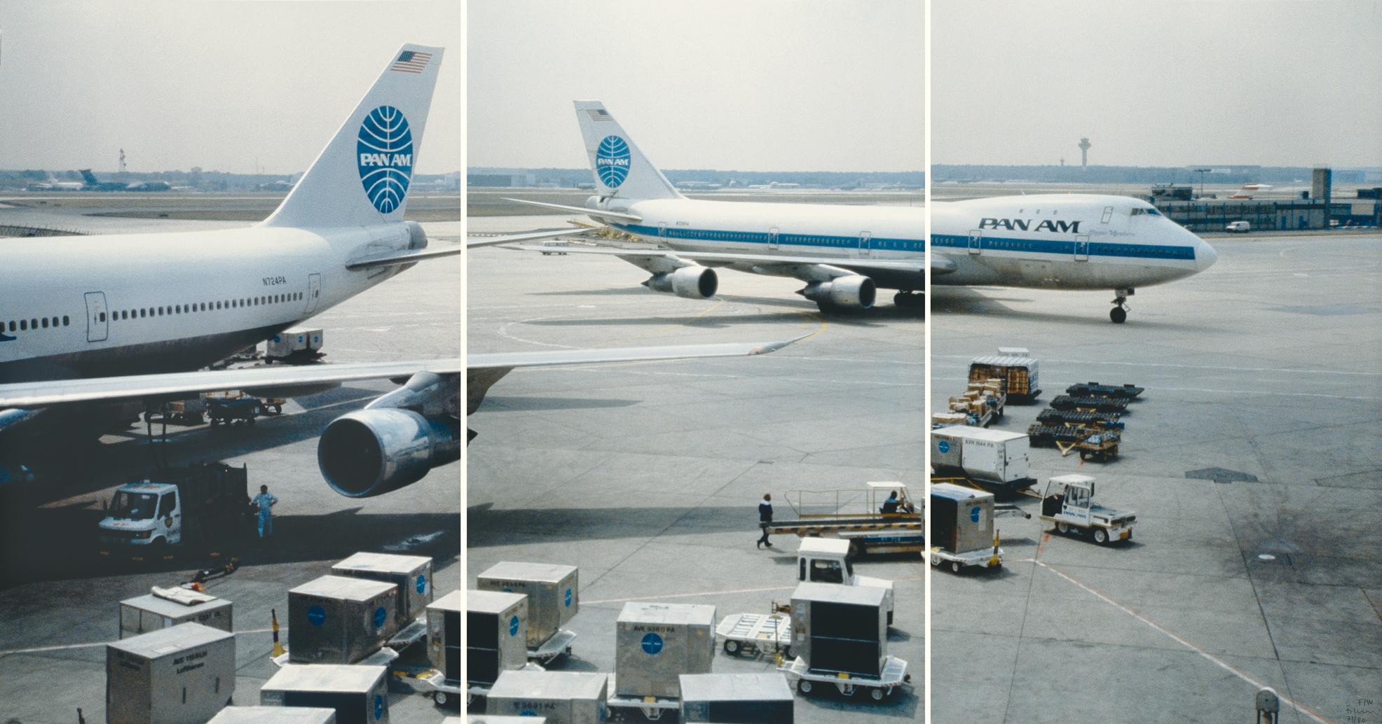 Fischli Peter, Folder. Triptych - Airport, 1987