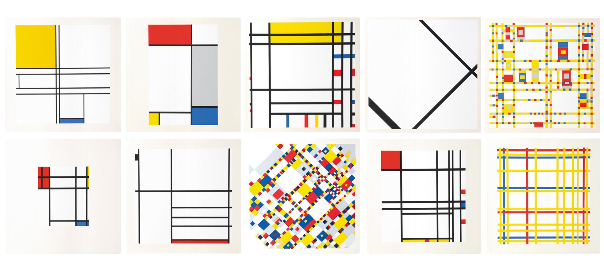 Mondrian Piet, Portfolio. A Portfolio of 10 Paintings