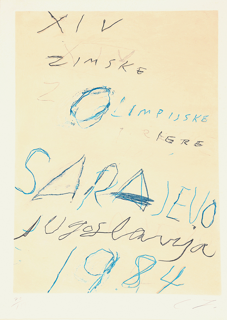 """Twombly Cy, Untitled, from """"Art and Sports"""""""