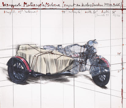 Wrapped Motorcycle/Sidecar (Project for Harley-Davidson 1933 VL Model)