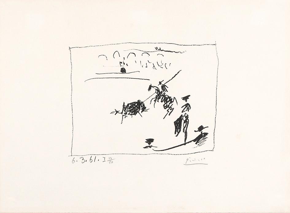 "Picasso Pablo, La Pique, from ""A los toros avec Picasso"""