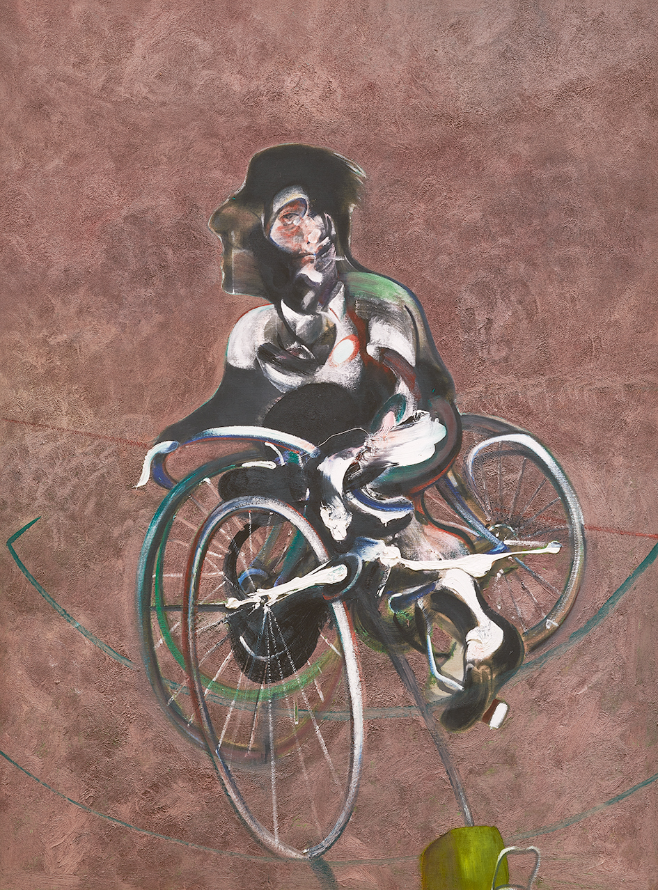 Bacon Francis, after. Portrait of George Dyer Riding a Bicycle (Q1B)