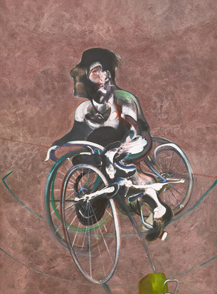 after. Portrait of George Dyer Riding a Bicycle (Q1B)