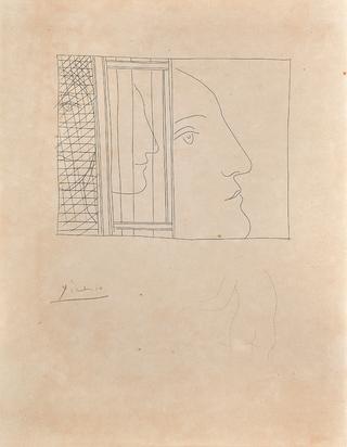 """Trois fragments de têtes, from """"Les métamorphoses d'Ovide"""""""