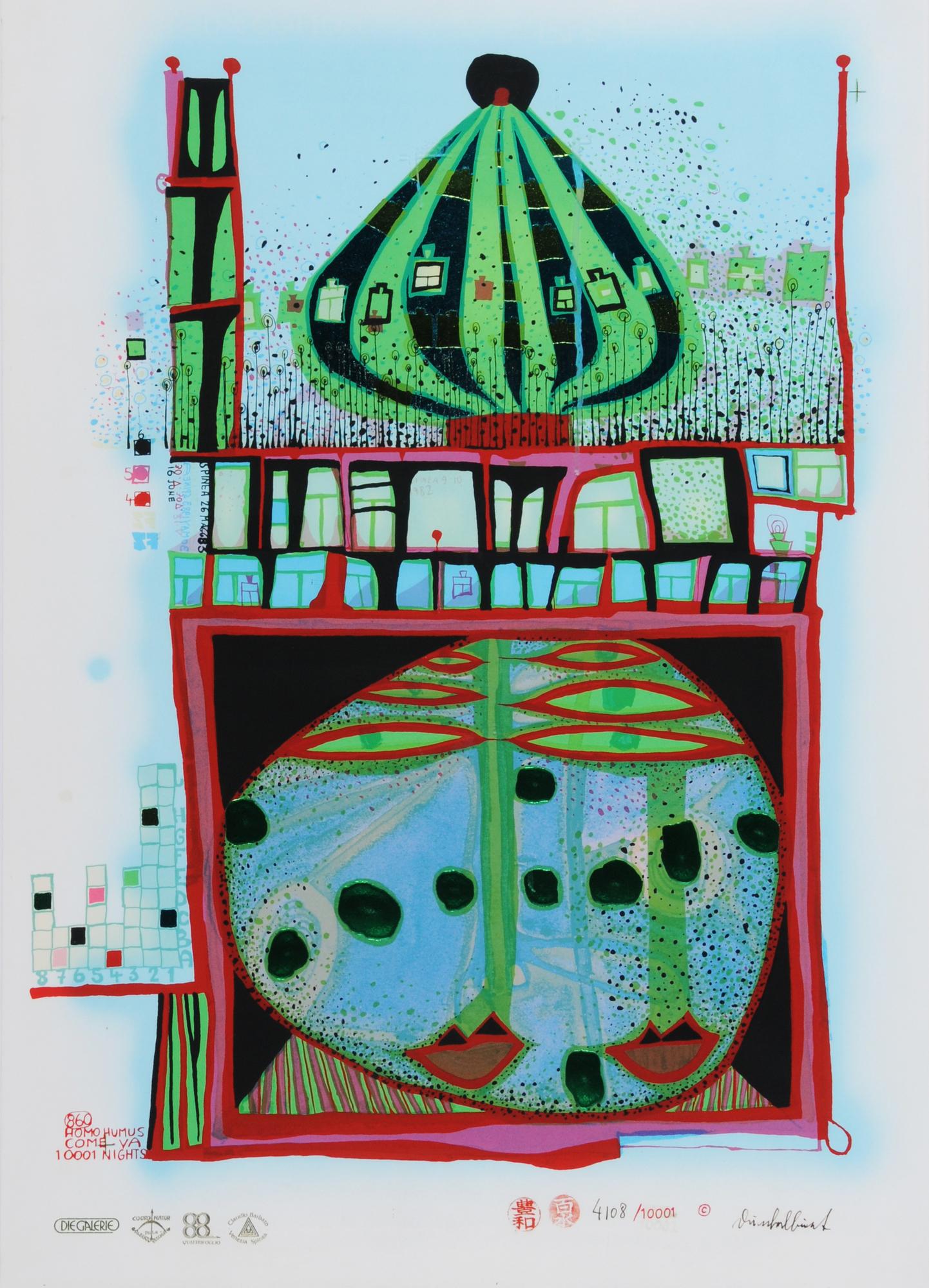 Hundertwasser Friedensreich, 10002 nights Homo Humus come va how do you do