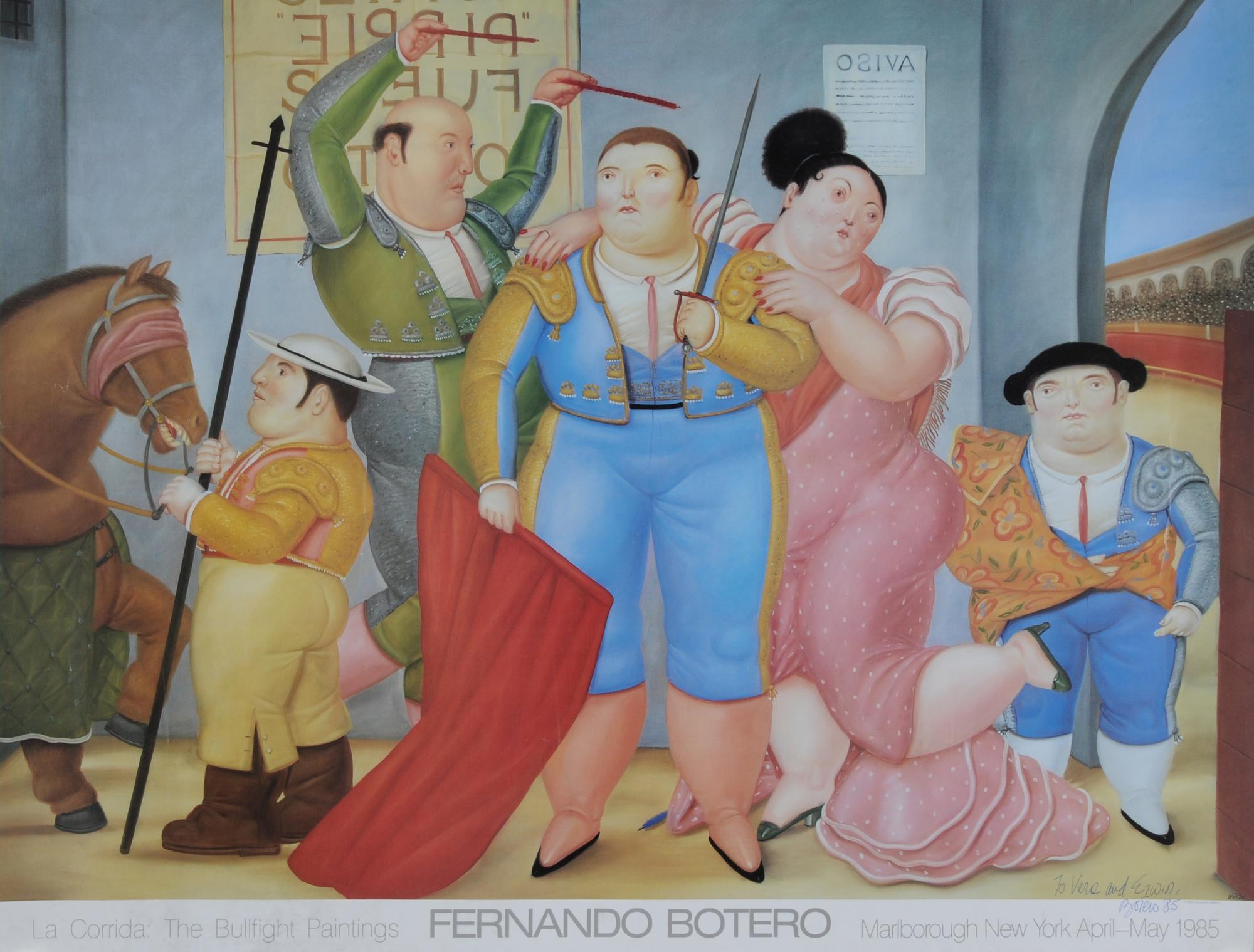 Botero Fernando, 2 sheets: Poster Marlborough Gallery, New York, 1985; Poster Palazzo delle Esposizioni, Roma