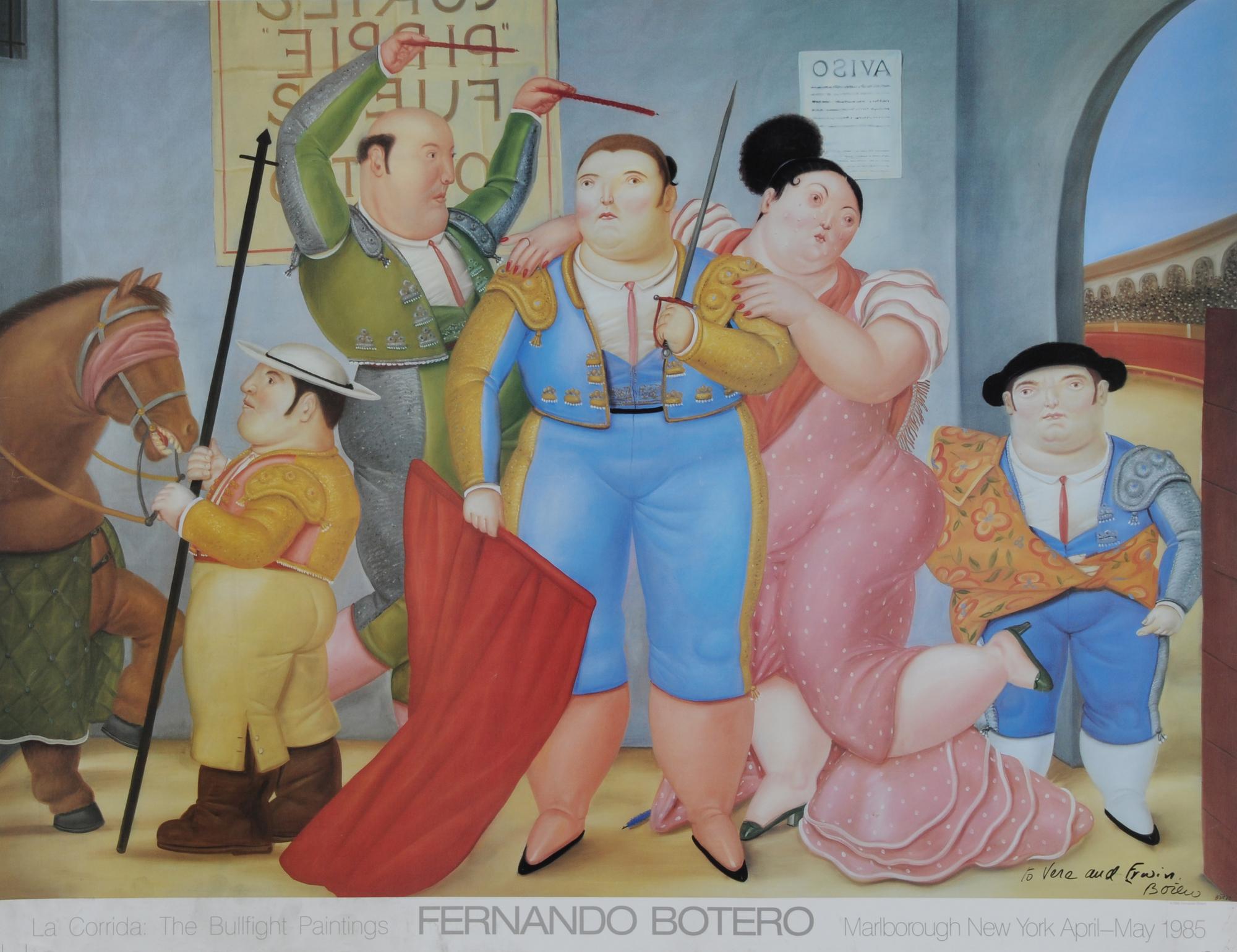 Botero Fernando, 2 sheets: Poster Marlborough Gallery, New York, 1985; Poster Castello Sforzesco, Milano