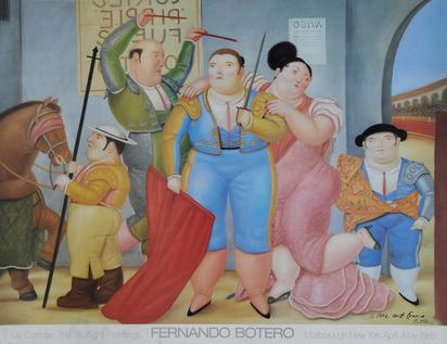 2 sheets: Poster Marlborough Gallery, New York, 1985; Poster Castello Sforzesco, Milano