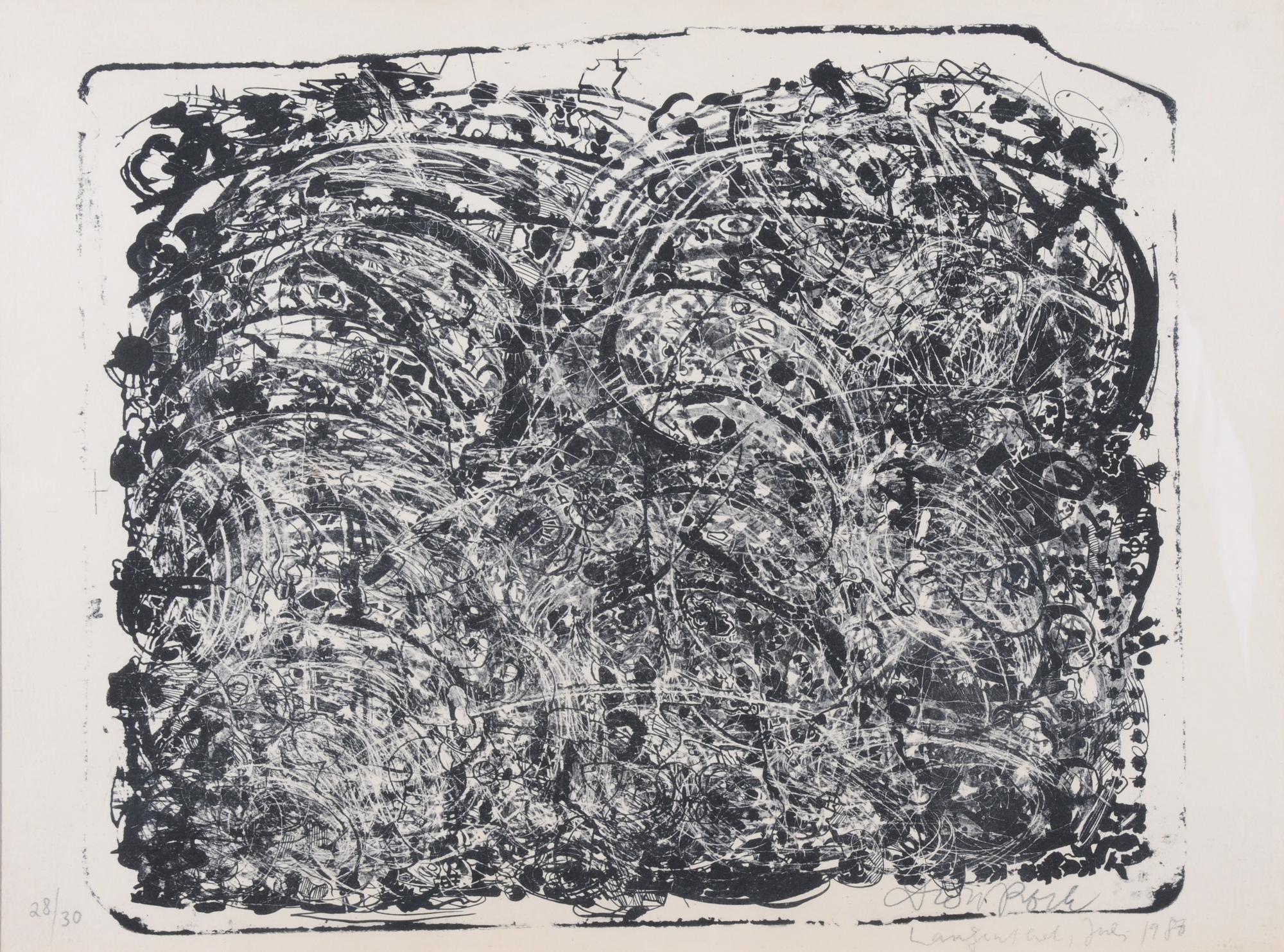 Roth Dieter, 2 sheets: Euro-Chinesischer Porzellanstein, 1986; Porzellanstein III, 1986