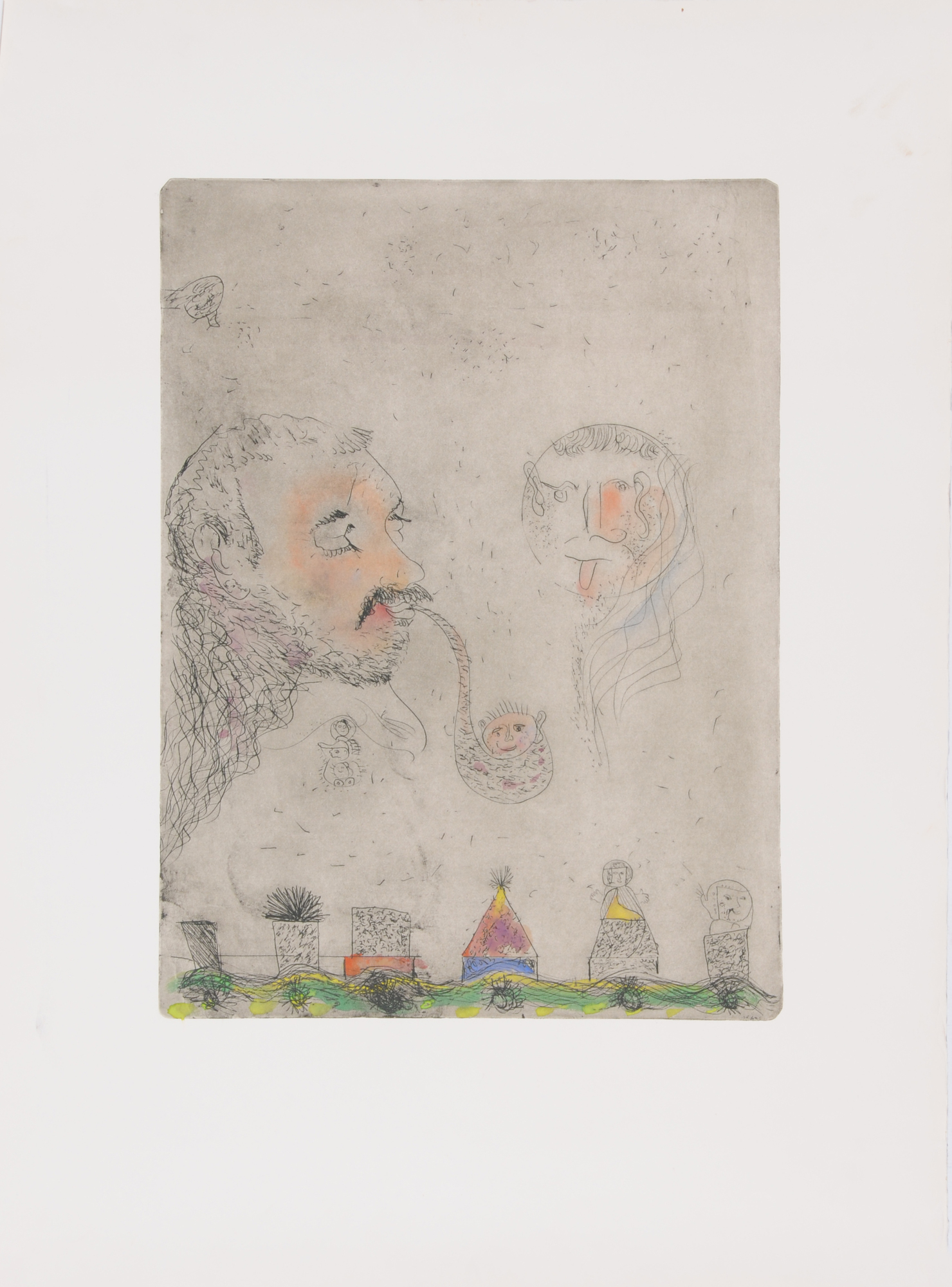 Kuhn Friedrich, 2 sheets: Untitled