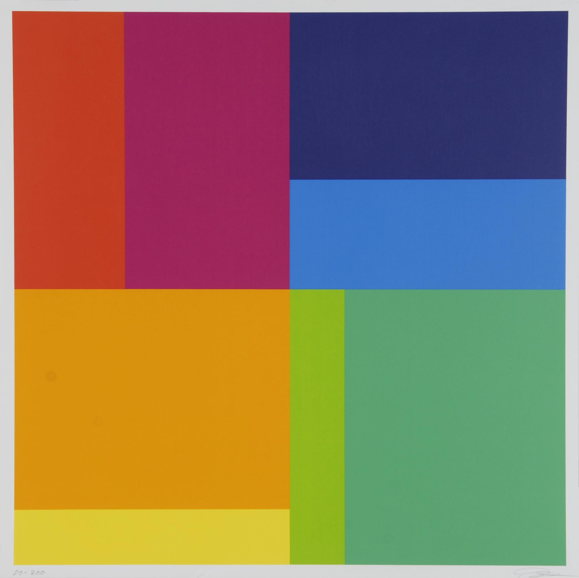 Lohse Richard Paul, Bewegung von acht Farben um eine Achse