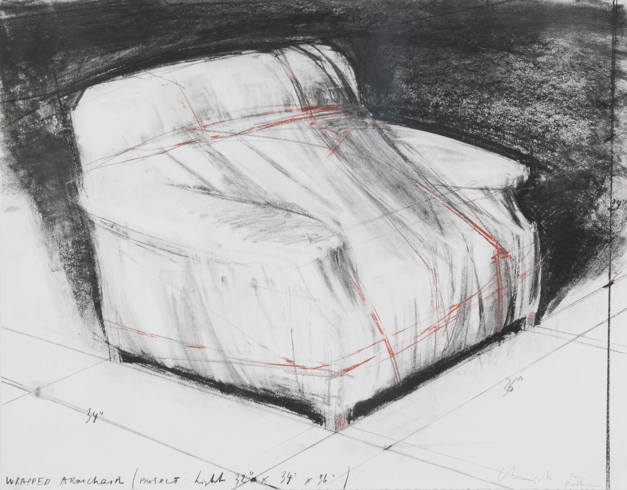 Christo, Wrapped Armchair, Project