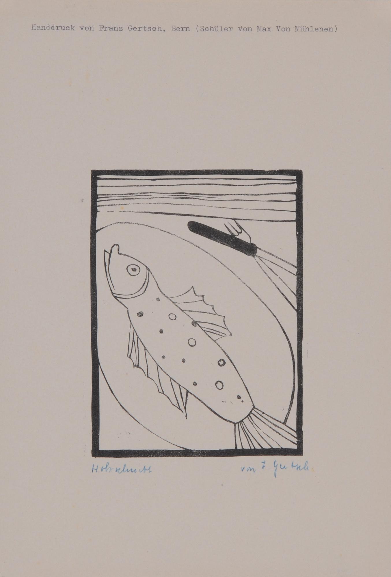 Gertsch Franz, 3 sheets: Untitled