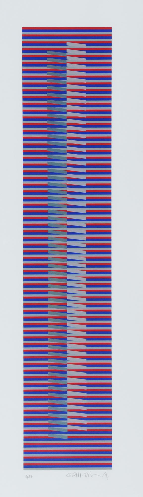 Cruz-Diez Carlos, Induction chromatique à double fréquence - Bailadores 2