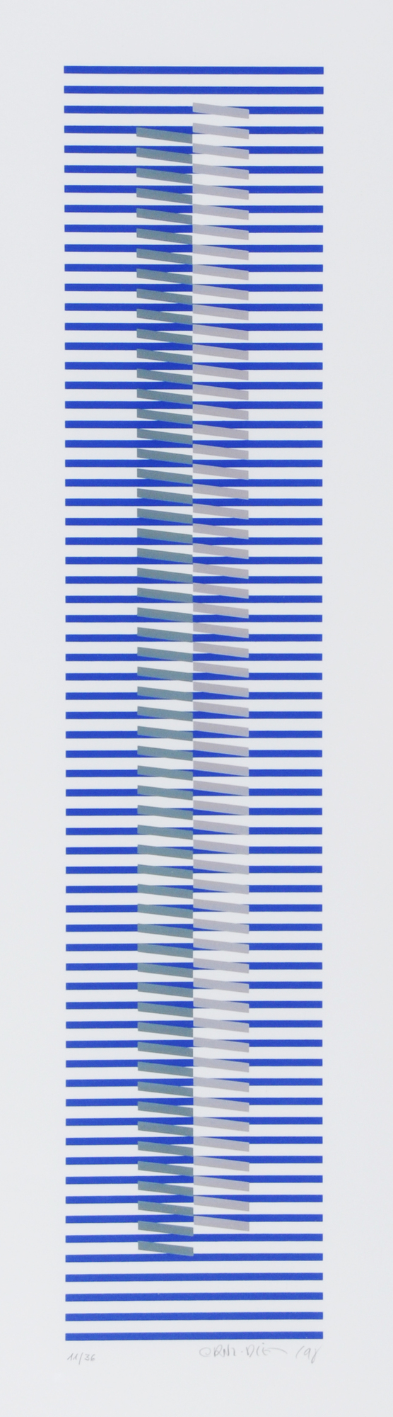 Cruz-Diez Carlos, Induction chromatique à double fréquence - Bailadores 3