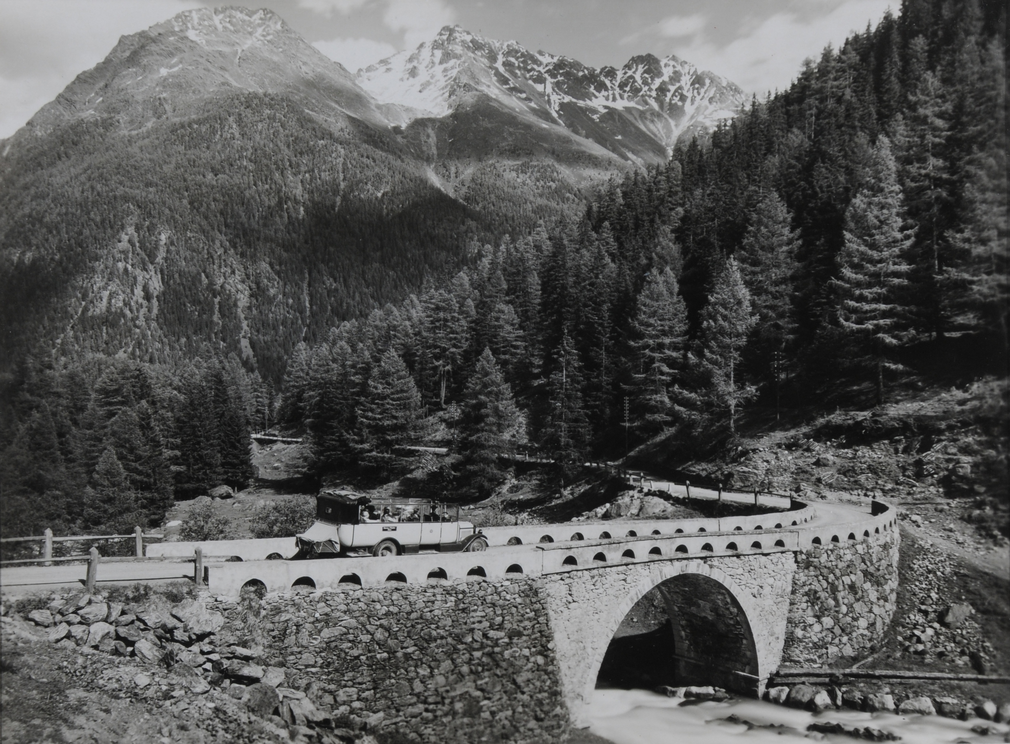 Steiner Albert, Flüelaroute: Süs im Unterengadin, Davos Partie oberhalb Süs, Piz Arpiglia