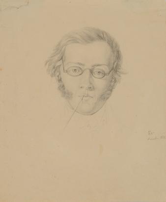 Kopf des Geigers und Komponisten Franz Schubert