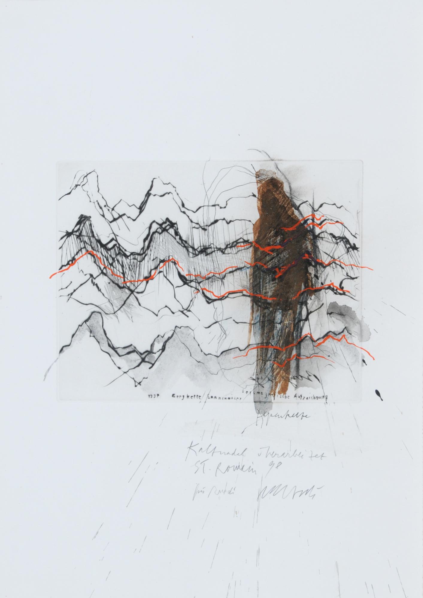 Iseli Rolf, Bergkette Saanenmöser - seismografische Aufzeichnung